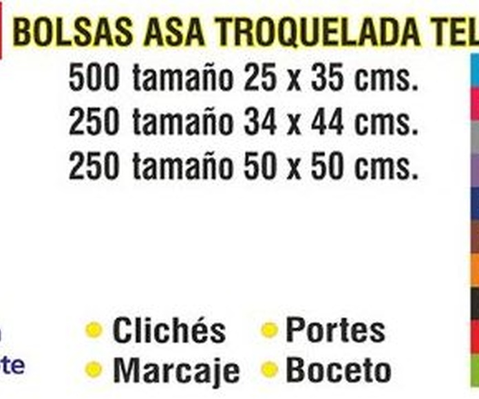 BOLSA ASA TROQUELADA TELA TST