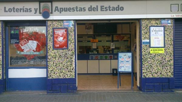 Loterías y apuestas: Servicios de Administración de Lotería Nº 77 La Valvanera