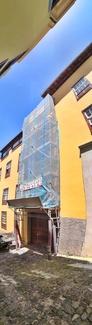 Andamio tubular variant. Rehabilitación de fachada en La Orotava.