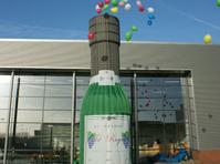 Botella cañon de globos