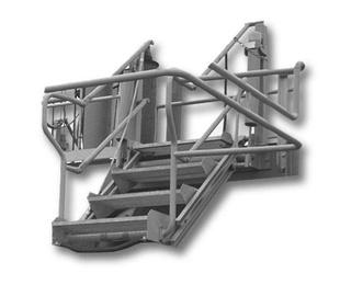 Brazos de carga de hidrocarburos-químicos y escaleras