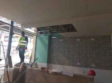 Obras en el Centro Comercial Alisios en Las Palmas de Gran Canaria
