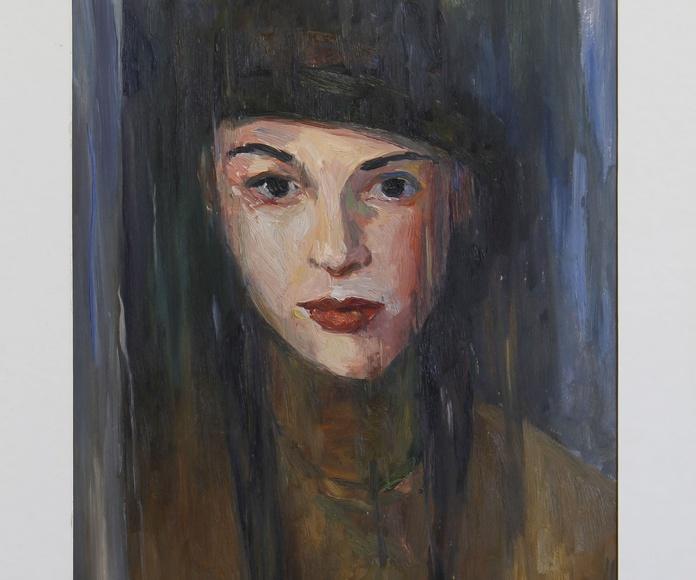 Tabla Retrato Mujer. Acrilico
