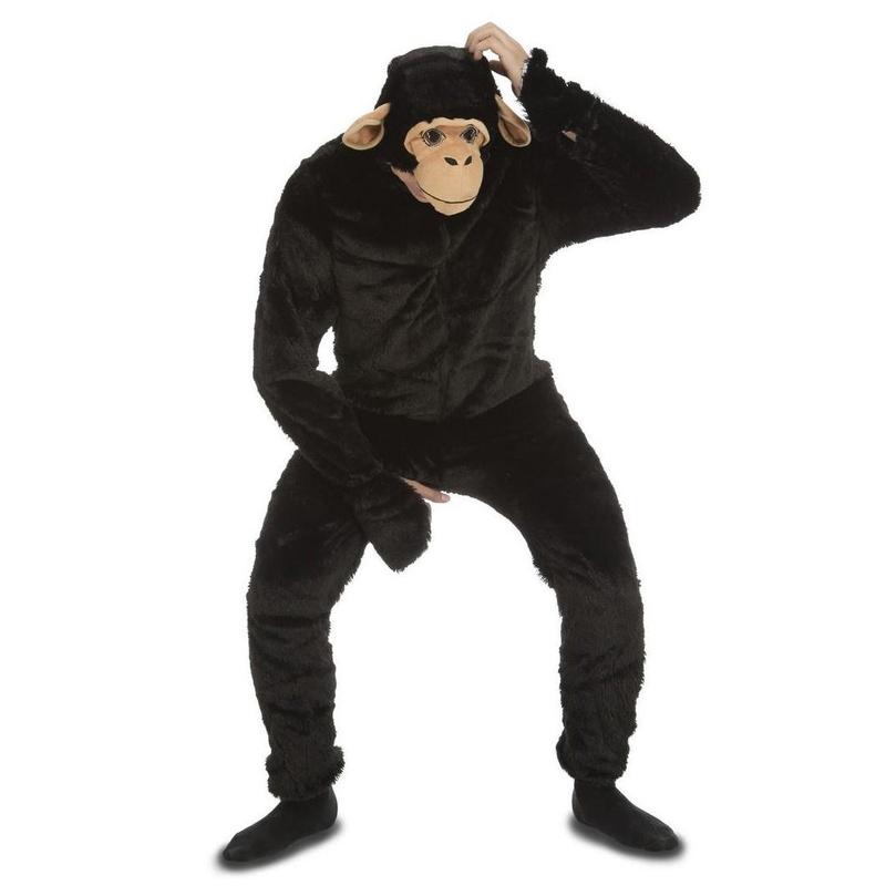 Disfraz mono chimpancé deluxe adulto