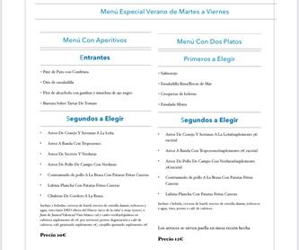 Pescados: Carta, Menús y Bodega de Restaurante Bonavista (Club de Campo Elche)
