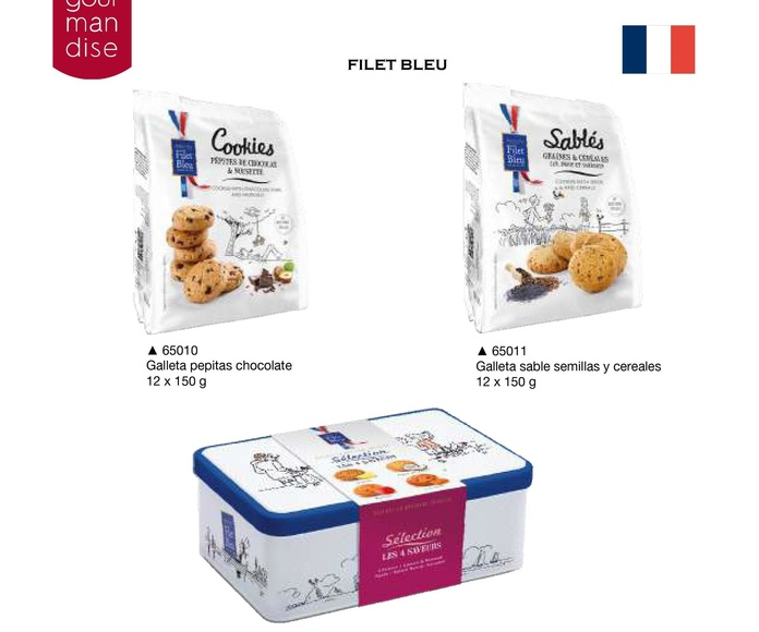 Filet Bleu. Galletas: Productos de Casa Bastida