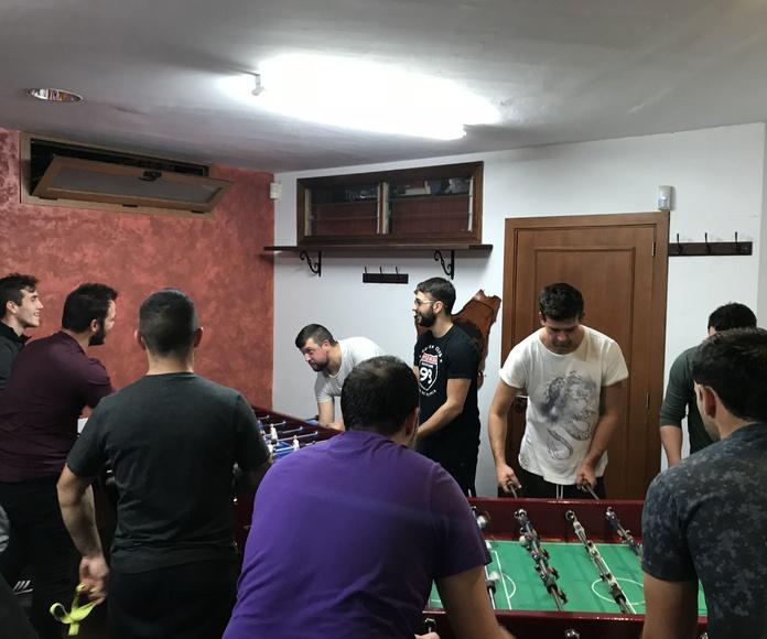 Encuentro de futbolín