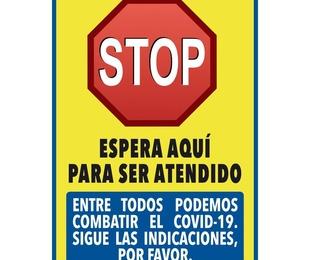 """Pancarta """"Stop"""" 31x44cm"""