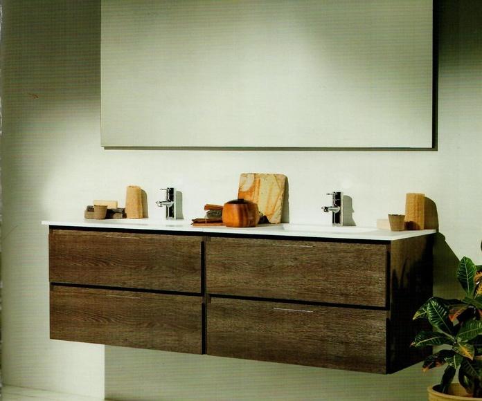 Mueble de baño doble