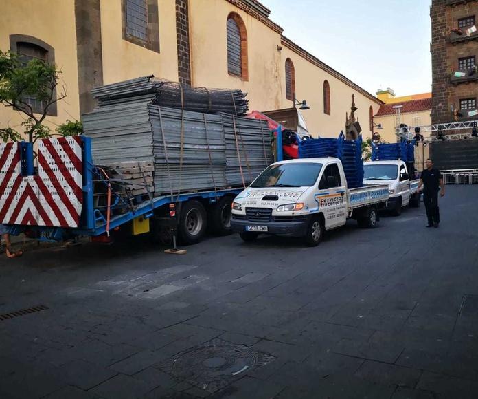 Trabajos con camión grúa