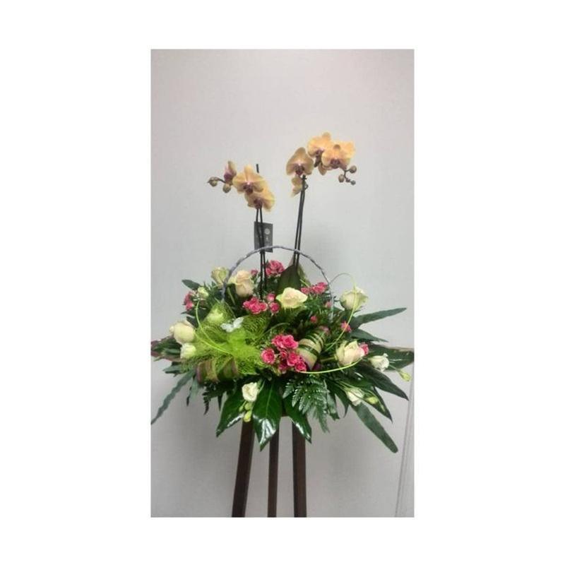 Centro floral decorativo con orquídea: Catálogo de FLORISTERÍA JOMACOS