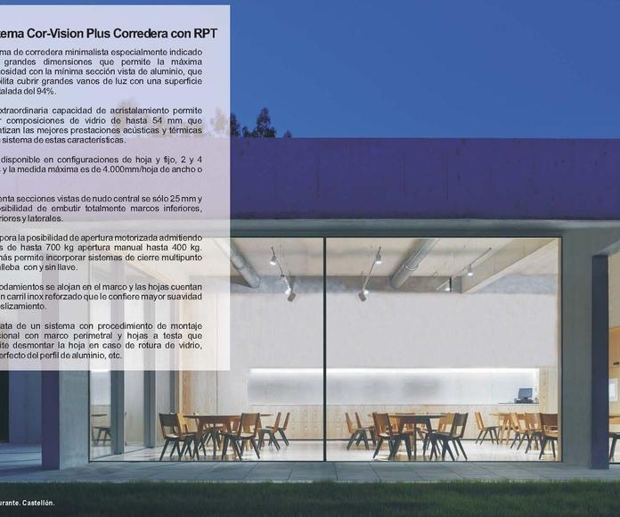 Cor Vision Plus Corredera RPT: Catálogo de Jgmaluminio