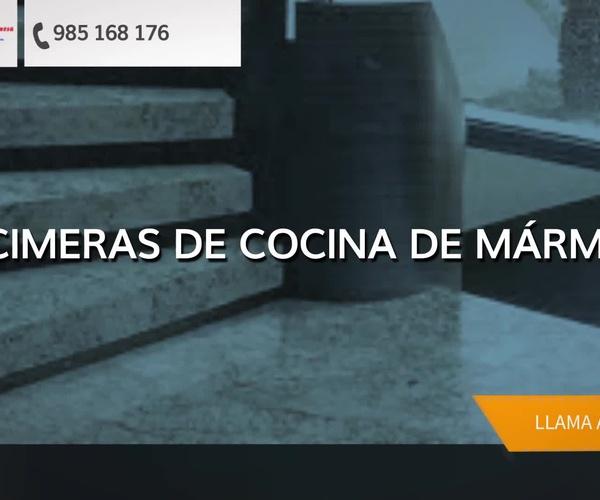 Lápidas de mármol en Gijón