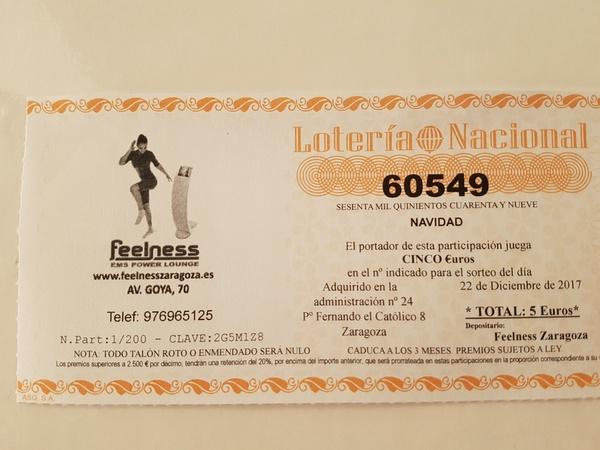 LOTERÍA NAVIDAD 60549