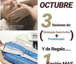 """Promoción OCTUBRE """"4x3 Bioterapia Facial Activa + Presoterapia"""""""