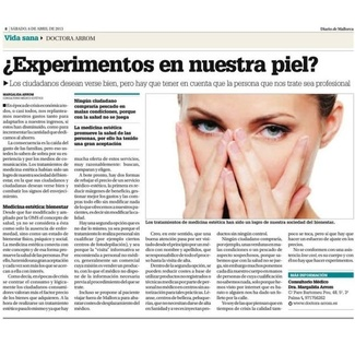 ¿Experimentos en nuestra piel?