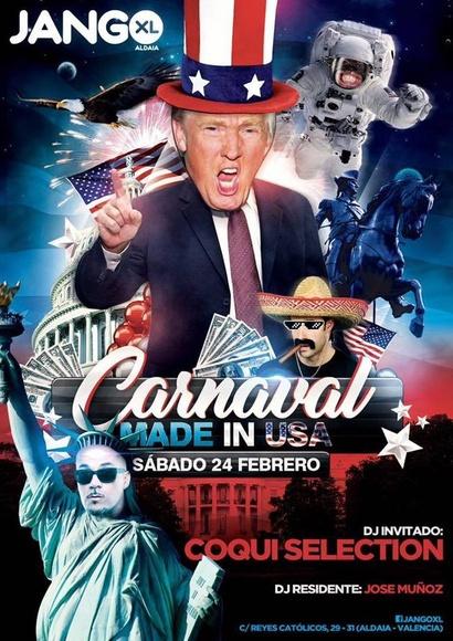 """Carnaval """"MADE IN USA"""" Sábado 24 de febrero con Coqui Selection"""