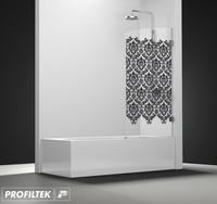 Mampara de baño Profiltek serie Newglass modelo NG-101 decoración Clasik