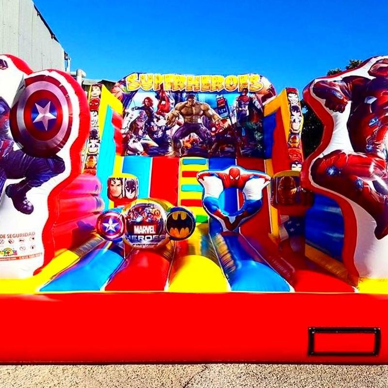 Castillo Hinchable tobogan superheroes 3D: Catálogo de Hinchables Happy Jump