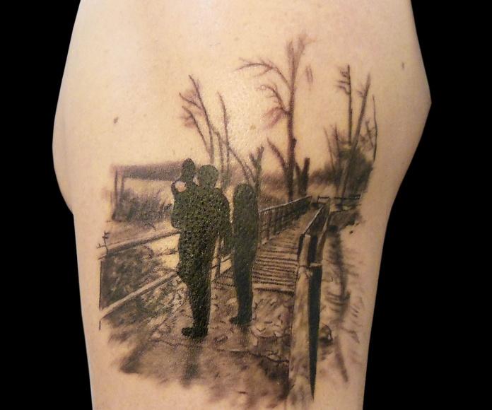 Tatuaje familia en Chus Tattoo