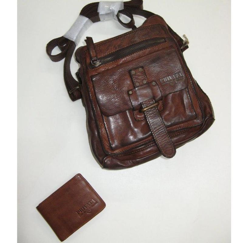 Bolso de piel de vaca lavada marrón: Productos de Zapatería Ideal