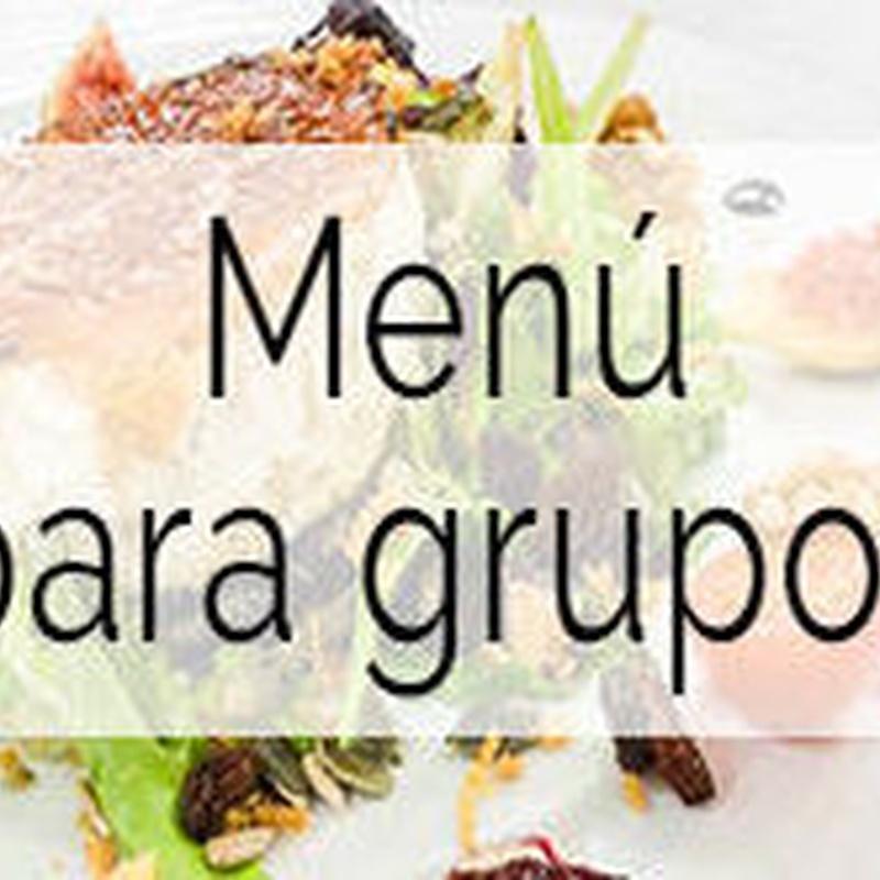 Menú para Grupos : Menús  de La Camocha