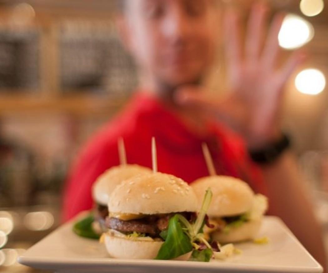 Las mini-hamburguesas, un bocado de moda