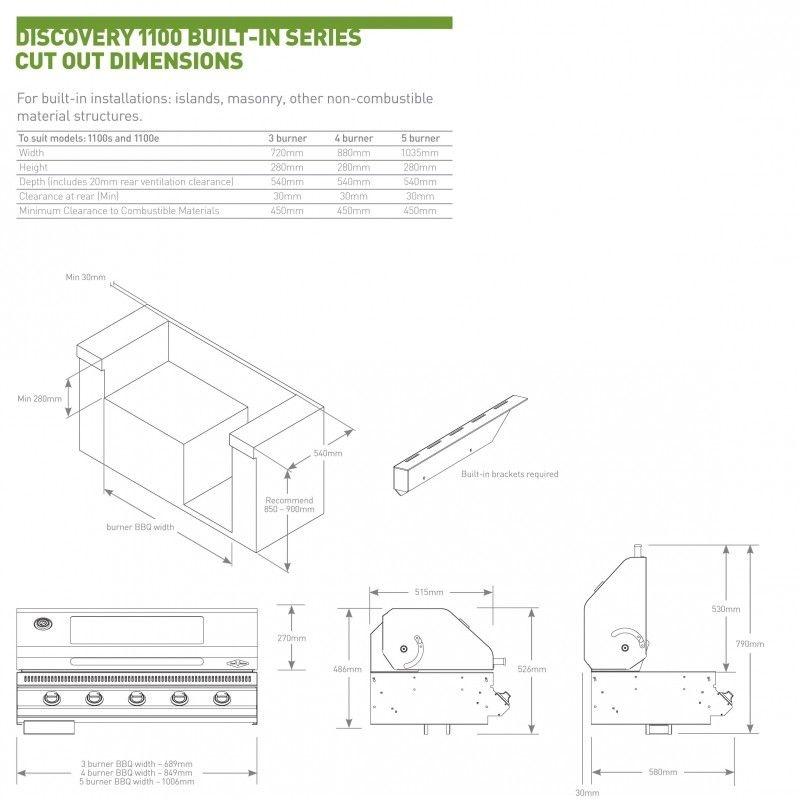 Barbacoa encastrable Discovery 1100S 4B: Productos de Mk Toldos