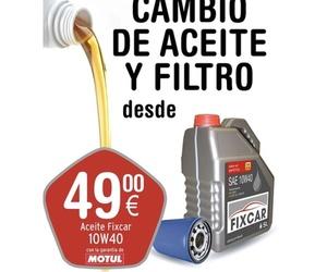 Cambios de filtro y aceite desde 50€