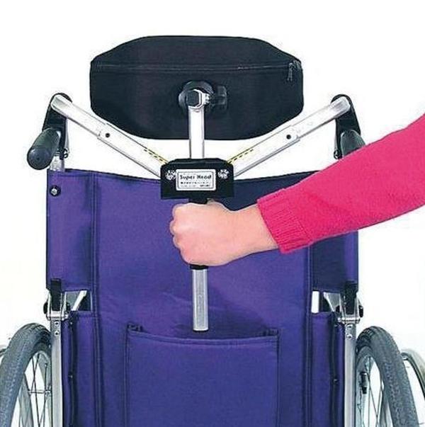 Reposacabezas plegable para silla de ruedas