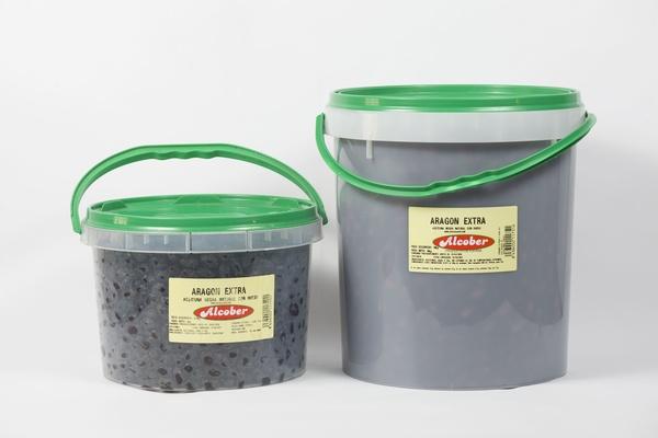 Aceituna Negra Natural Extra: Bote de 5 Kg y 10 Kg