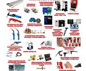 Equipos, consumibles y accesorios. Soldadura y corte