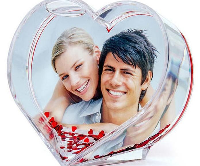 Corazón metacrilato personalizado