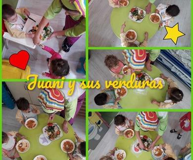 Gente Pequeña disfrutamos y aprendemos los alimentos