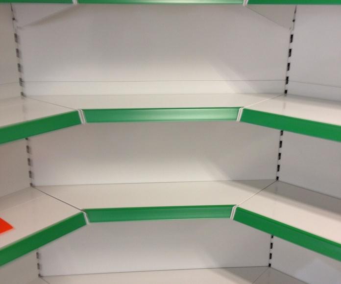 Estanterías metálica en Supermecado SuperSano de Elche: Instalaciones de Europea de Estanterías