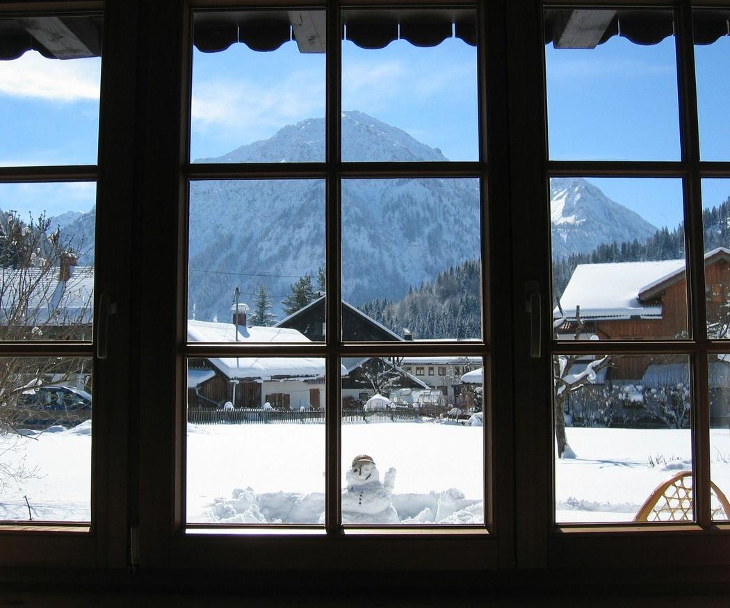 Las ventanas de PVC en invierno