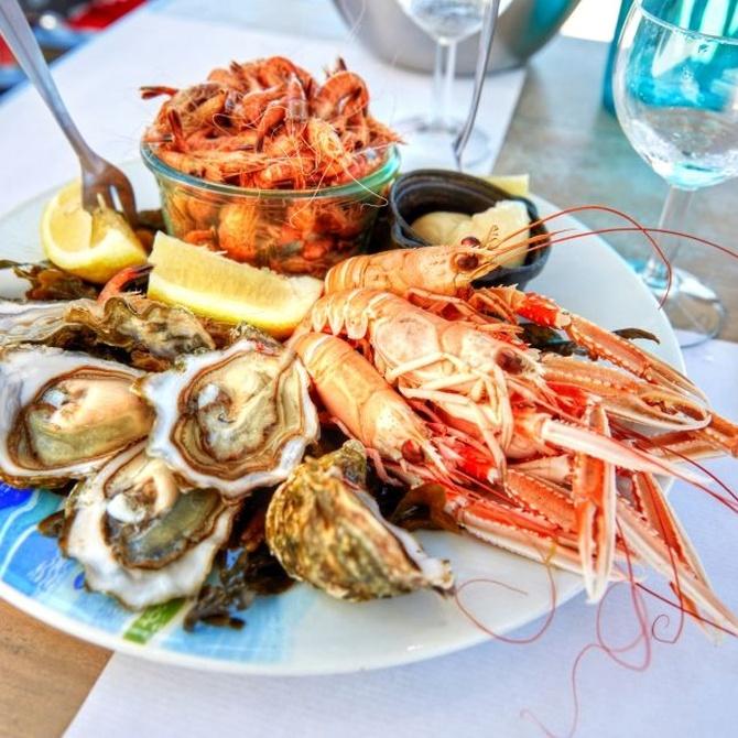 Aportes nutricionales de los diferentes mariscos