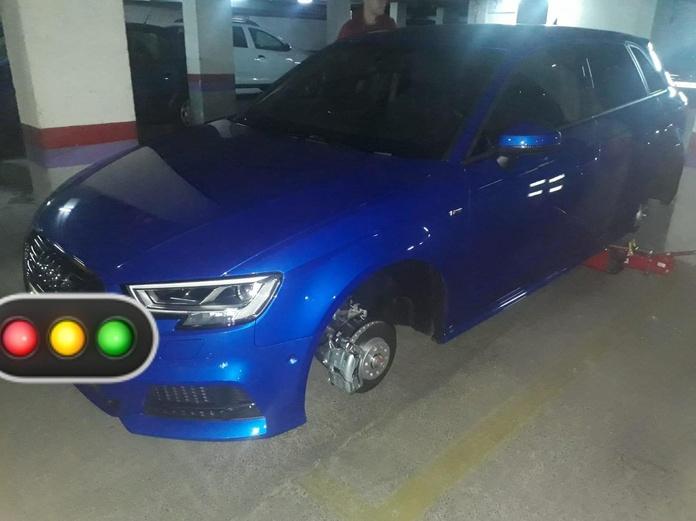 Robo de las llantas en garajes en Madrid