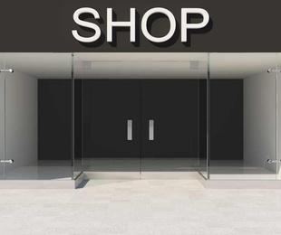 Las letras corpóreas más frecuentes en rótulos de tiendas