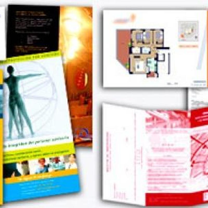Drípticos  y trípticos: Catálogo de Copistería Copivan