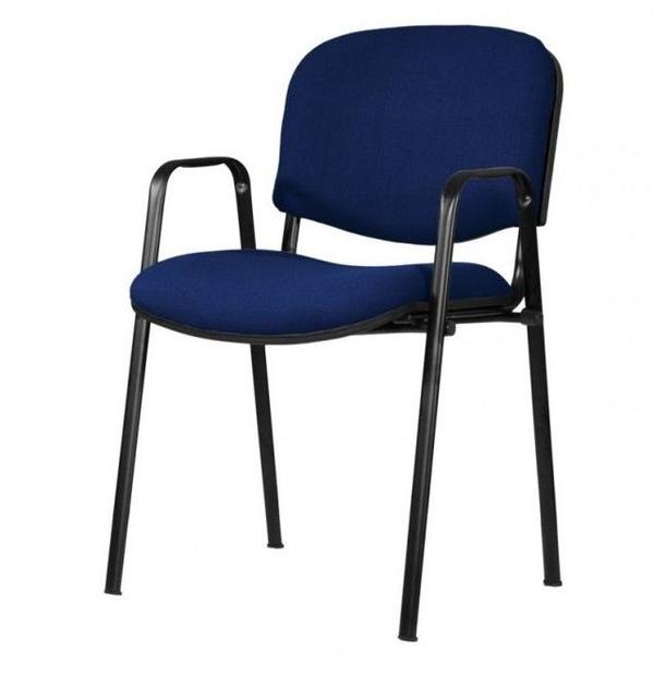 sillon fijo con brazos mod. 501 tapizado en tela de color azul oscuro
