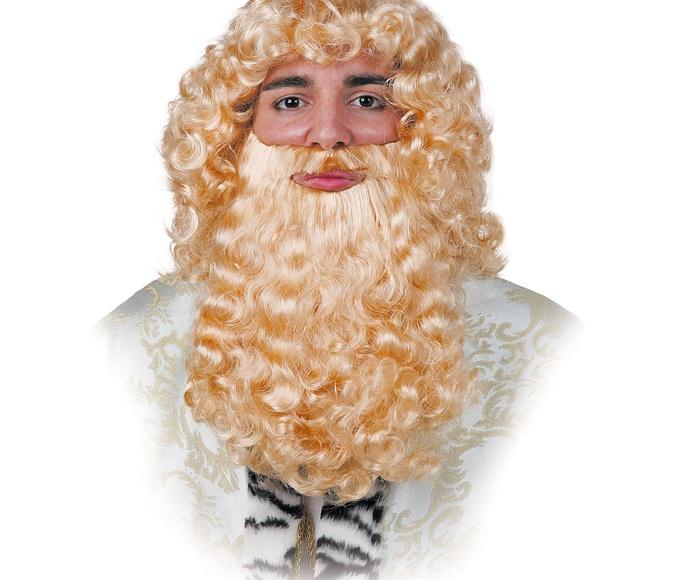 Barba rubia rizada