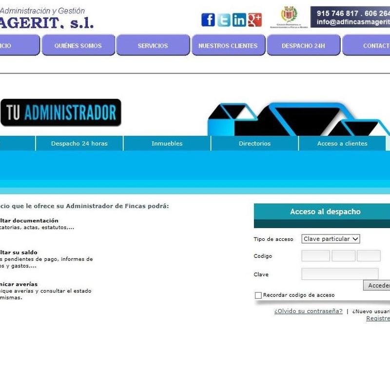 Despacho Web 24 horas: Servicios de Administración y Gestión Magerit, S.L.