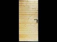Puerta batiente madera horizontales