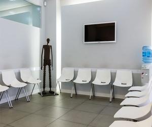 Sala de espera del laboratorio