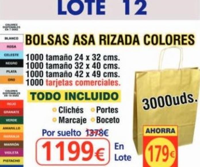 BOLSA ASA RIZADA COLORES 3000 UNDS: TIENDA ON LINE de Seriprint