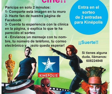 Gana 2 entradas de cine para Kinépolis con FamilDent. ¡¡Apúntate, es gratis!!