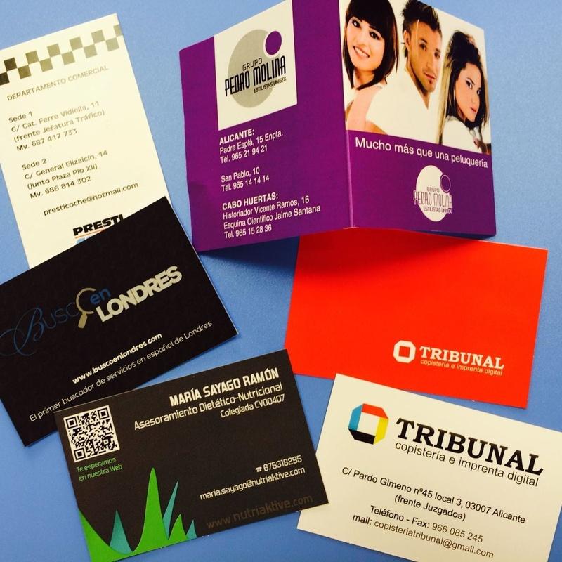 Tarjetas comerciales : ¿Qué hacemos? de Copistería Tribunal