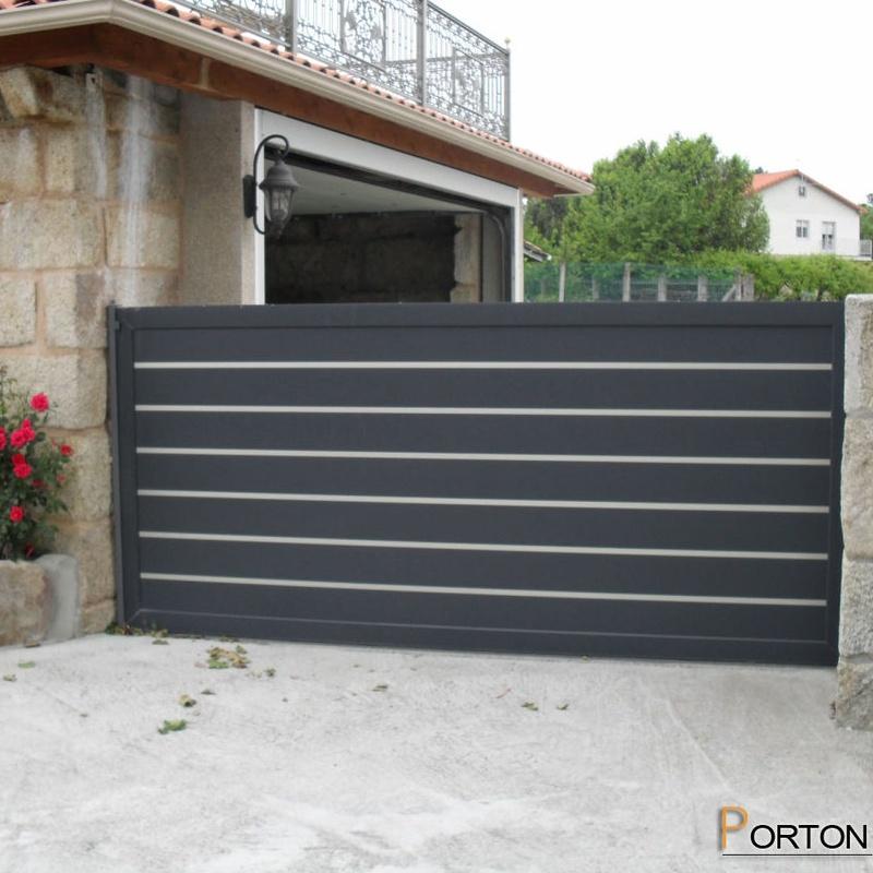 Puertas de garaje fabricadas en aluminio