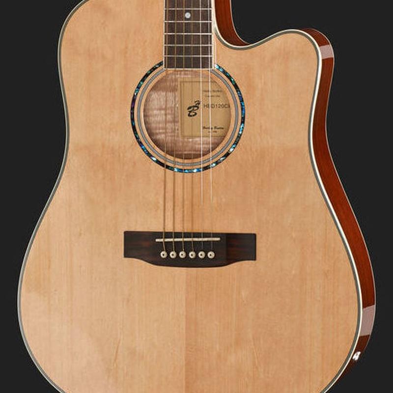 Guitarra electroacústica económica Harley Benton